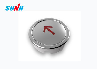 Stainless Steel Mirror Elevator Up Button , Customized Size Elevator Touch Button
